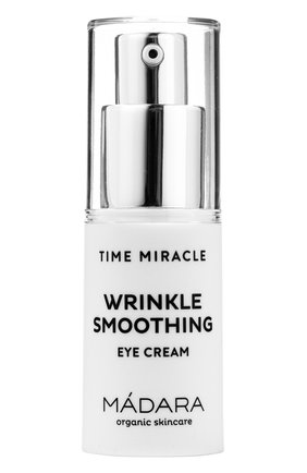 Женского крем для кожи вокруг глаз time miracle wrinkle smoothing MADARA бесцветного цвета, арт. A3191 | Фото 1