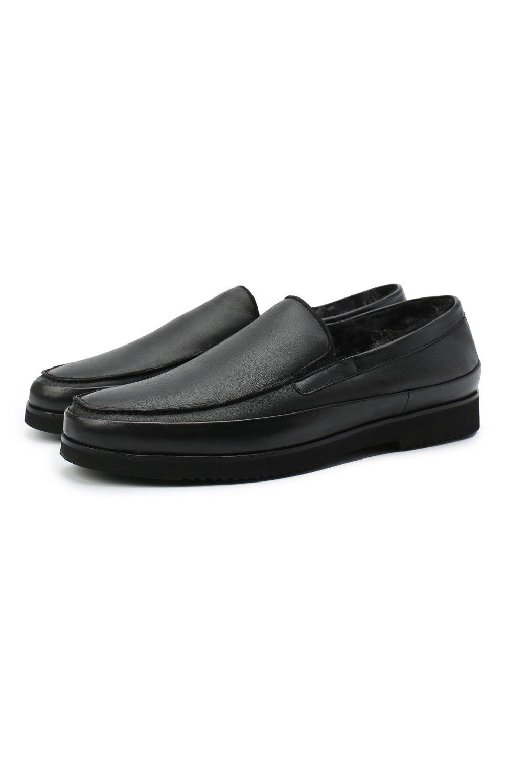 Мужские кожаные лоферы ALDO BRUE черного цвета, арт. AB8108.NMD.S.A99G   Фото 1