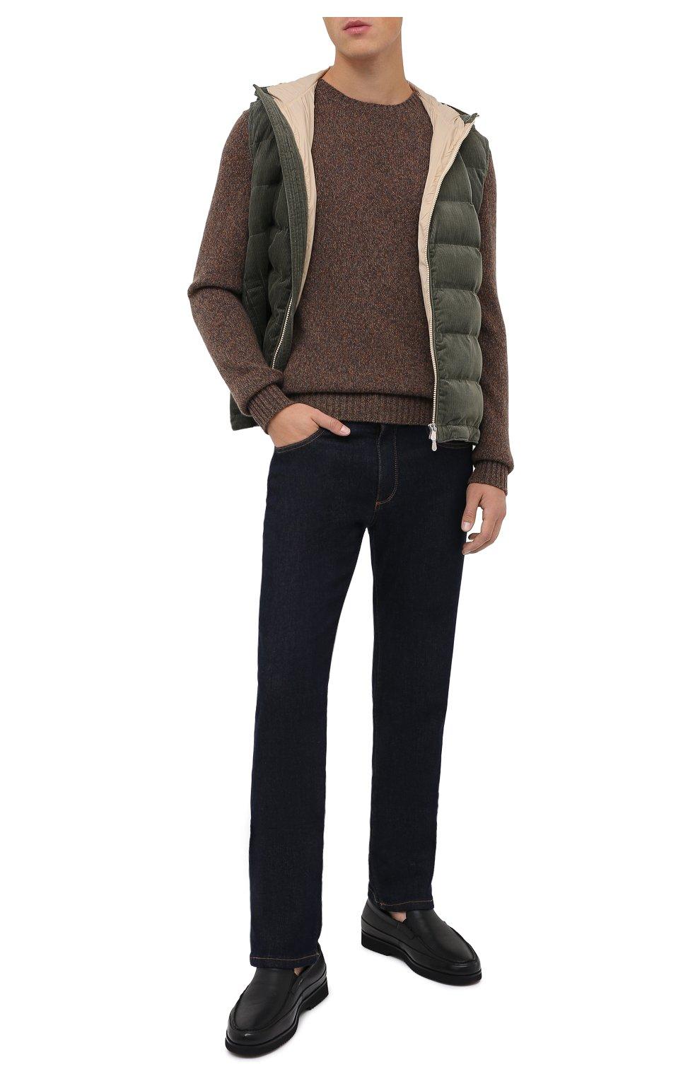 Мужские кожаные лоферы ALDO BRUE черного цвета, арт. AB8108.NMD.S.A99G   Фото 2