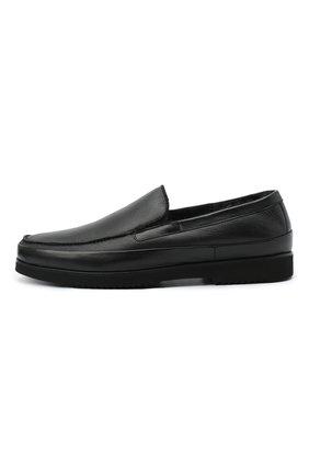 Мужские кожаные лоферы ALDO BRUE черного цвета, арт. AB8108.NMD.S.A99G   Фото 3