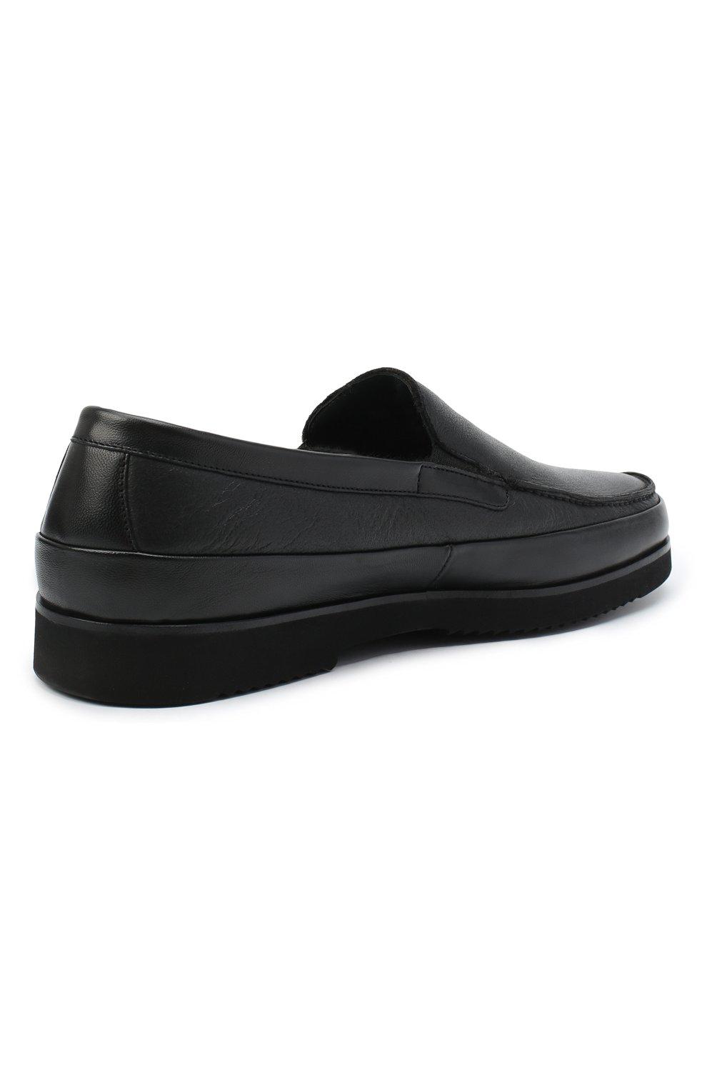 Мужские кожаные лоферы ALDO BRUE черного цвета, арт. AB8108.NMD.S.A99G   Фото 4