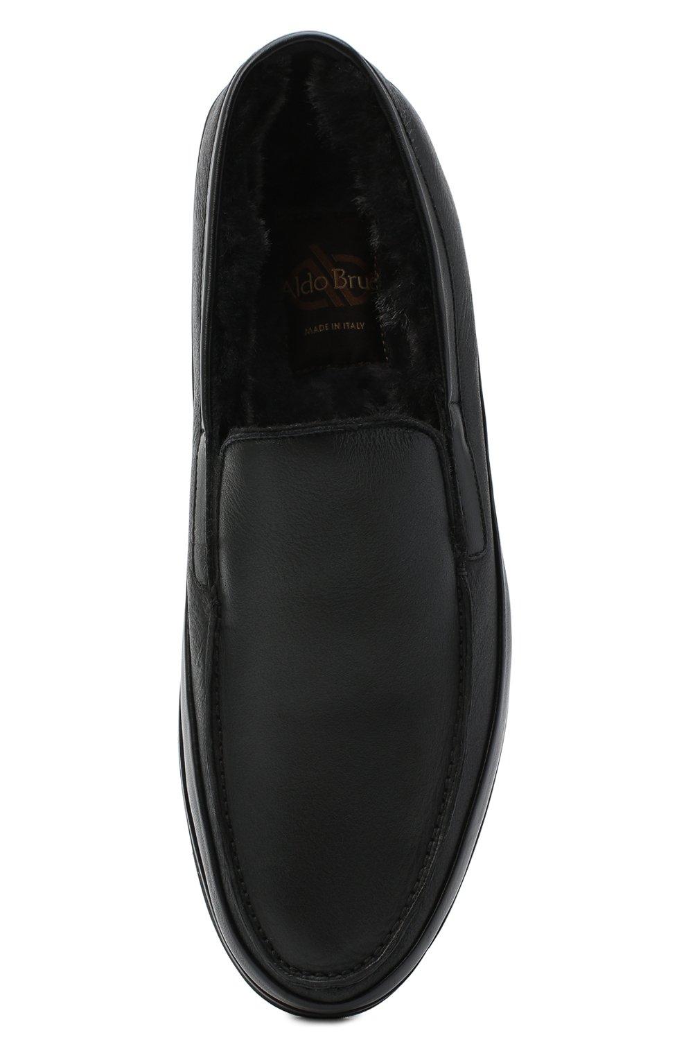 Мужские кожаные лоферы ALDO BRUE черного цвета, арт. AB8108.NMD.S.A99G   Фото 5