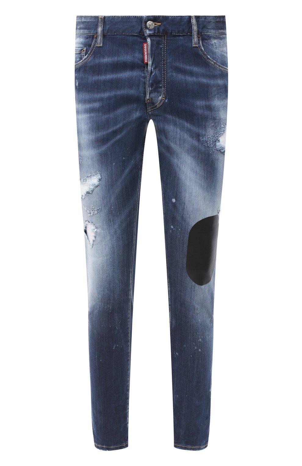 Мужские джинсы DSQUARED2 синего цвета, арт. S74LB0805/S30708   Фото 1
