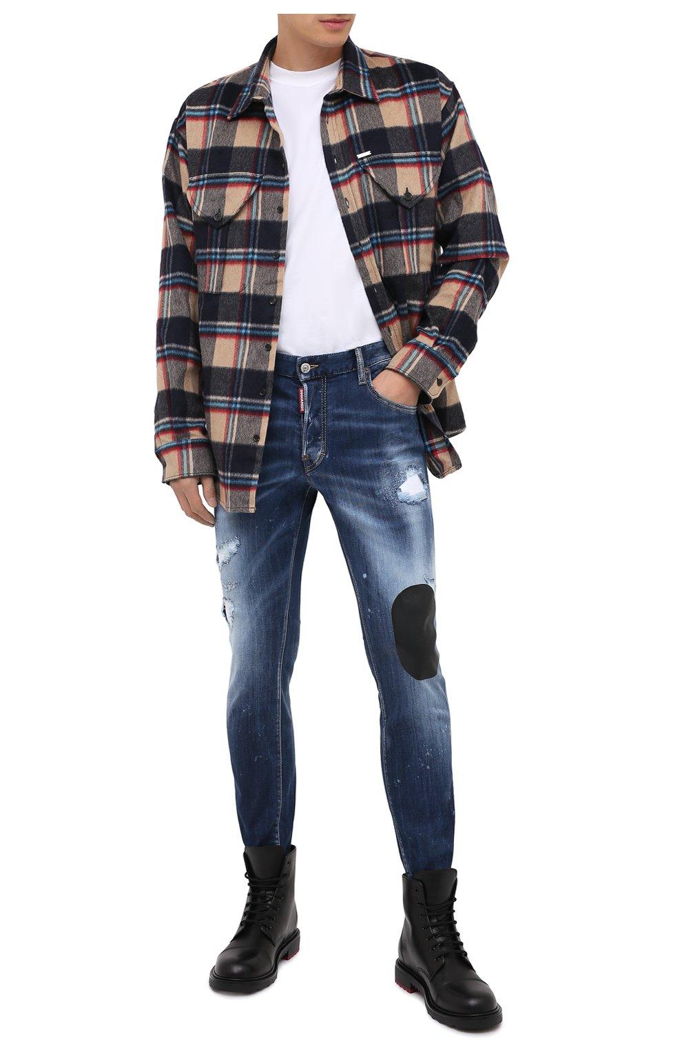 Мужские джинсы DSQUARED2 синего цвета, арт. S74LB0805/S30708   Фото 2
