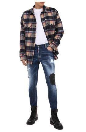 Мужские джинсы DSQUARED2 синего цвета, арт. S74LB0805/S30708 | Фото 2