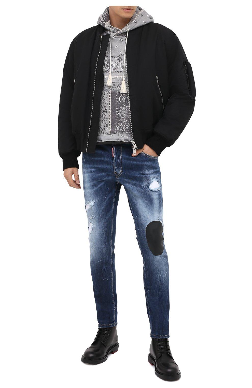 Мужские джинсы DSQUARED2 синего цвета, арт. S74LB0805/S30708   Фото 3