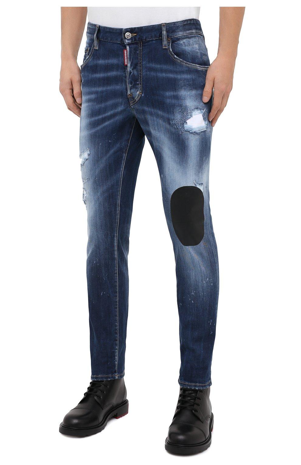 Мужские джинсы DSQUARED2 синего цвета, арт. S74LB0805/S30708   Фото 4