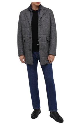 Мужские кожаные кеды MORESCHI черного цвета, арт. 42838/CQ/ADRIA/F.M0NT0NE | Фото 2