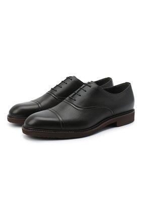 Мужские кожаные оксфорды MORESCHI черного цвета, арт. 43548/EM/GI0VE/F.NAPPA | Фото 1