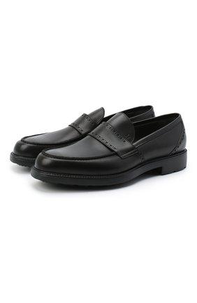Мужские кожаные лоферы MORESCHI черного цвета, арт. 43561/SI/B0RG0GNA/F.NAPPA | Фото 1