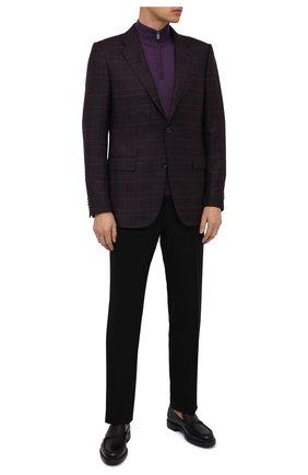 Мужские кожаные лоферы MORESCHI черного цвета, арт. 43561/SI/B0RG0GNA/F.NAPPA | Фото 2