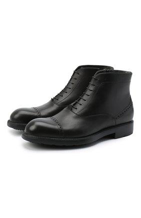 Мужские кожаные ботинки MORESCHI черного цвета, арт. 43562/SD/B0RG0GNA/F.NAPPA | Фото 1