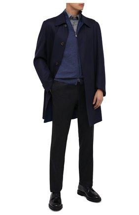 Мужской кожаные дерби BARRETT темно-синего цвета, арт. 192U003.15/BETIS CREAM | Фото 2