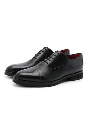 Мужские кожаные оксфорды BARRETT черного цвета, арт. 192U065.9/BETIS CREAM | Фото 1
