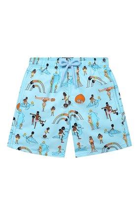Детские плавки-шорты VILEBREQUIN голубого цвета, арт. JIMU0B29/331 | Фото 1