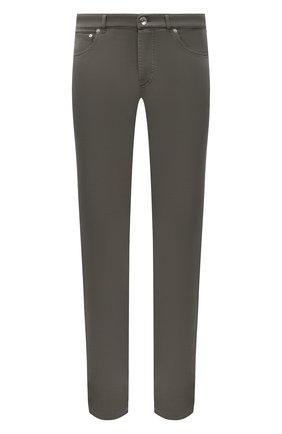 Мужские джинсы BRUNELLO CUCINELLI хаки цвета, арт. M268DI1780 | Фото 1