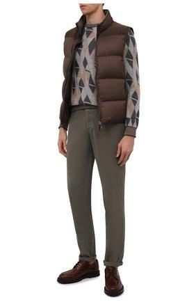 Мужские джинсы BRUNELLO CUCINELLI хаки цвета, арт. M268DI1780 | Фото 2