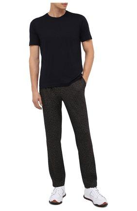 Мужская шерстяная футболка CAPOBIANCO темно-синего цвета, арт. 9M660.JE00. | Фото 2