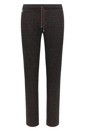 Мужской брюки из шерсти и хлопка CAPOBIANCO темно-коричневого цвета, арт. 9M733.ME00. | Фото 1