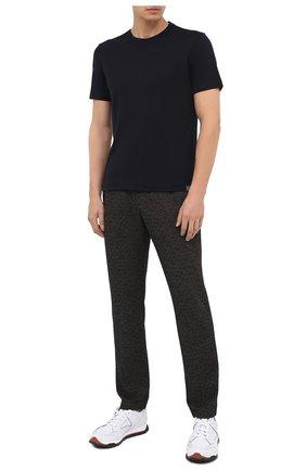 Мужской брюки из шерсти и хлопка CAPOBIANCO темно-коричневого цвета, арт. 9M733.ME00. | Фото 2