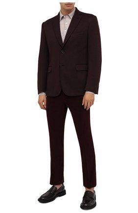 Мужской шерстяной пиджак BRIONI коричневого цвета, арт. UJEK0L/07601 | Фото 2 (Длина (для топов): Стандартные; Материал внешний: Шерсть; Материал подклада: Вискоза; Рукава: Длинные; Пиджаки М: Прямой; 1-2-бортные: Однобортные; Стили: Классический; Случай: Коктейльный)