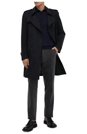 Мужское поло из кашемира и шелка BRIONI темно-синего цвета, арт. UMR30L/P9K28 | Фото 2