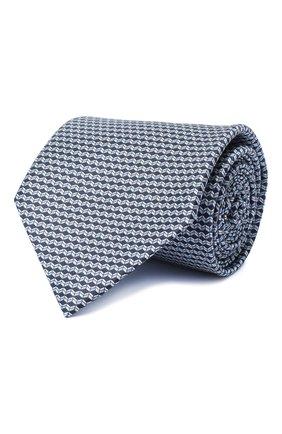 Мужской комплект из галстука и платка BRIONI голубого цвета, арт. 08A900/0940C   Фото 1 (Материал: Текстиль)