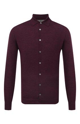 Мужская шерстяная рубашка CANALI бордового цвета, арт. C0761/MK00077 | Фото 1