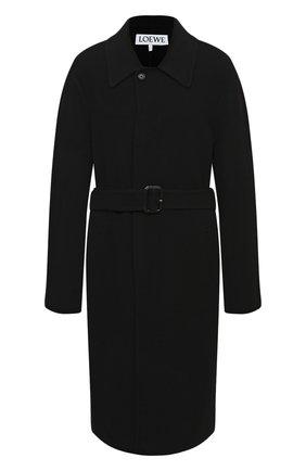 Мужской пальто из шерсти и кашемира LOEWE черного цвета, арт. H526336X72 | Фото 1