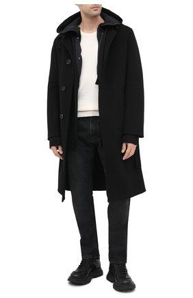 Мужской пальто из шерсти и кашемира LOEWE черного цвета, арт. H526336X72 | Фото 2