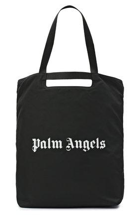 Мужская текстильная сумка-шопер PALM ANGELS черного цвета, арт. PMNA031F20FAB0011001 | Фото 1