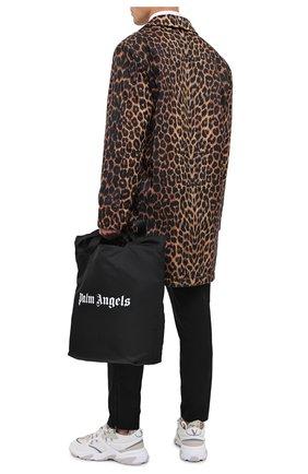 Мужская текстильная сумка-шопер PALM ANGELS черного цвета, арт. PMNA031F20FAB0011001 | Фото 2