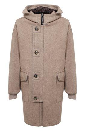 Мужской кашемировое пальто GIORGIO ARMANI светло-бежевого цвета, арт. 0WG0C04J/T009N   Фото 1