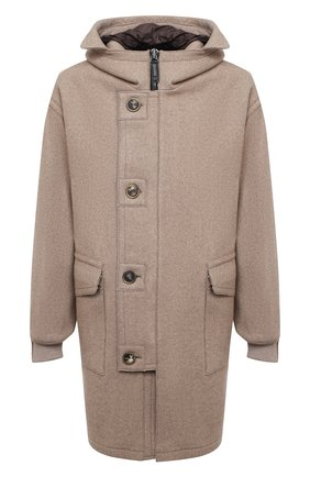 Мужской кашемировое пальто GIORGIO ARMANI светло-бежевого цвета, арт. 0WG0C04J/T009N | Фото 1