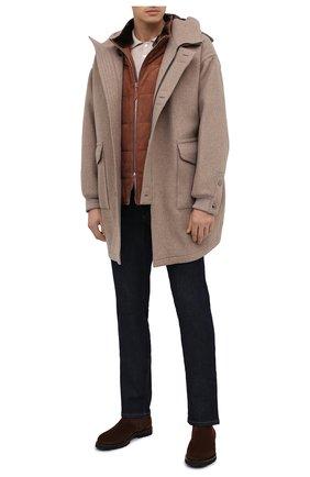Мужской кашемировое пальто GIORGIO ARMANI светло-бежевого цвета, арт. 0WG0C04J/T009N   Фото 2