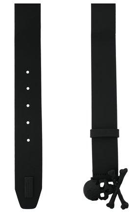 Мужской кожаный ремень PHILIPP PLEIN черного цвета, арт. F20A MVA0602 PLE008N | Фото 2
