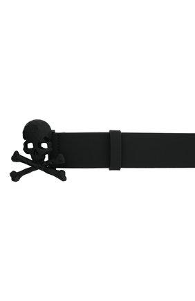 Мужской кожаный ремень PHILIPP PLEIN черного цвета, арт. F20A MVA0602 PLE008N | Фото 3