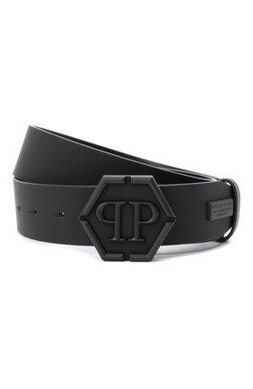Мужской кожаный ремень PHILIPP PLEIN черного цвета, арт. F20A MVA0600 PLE008N | Фото 1