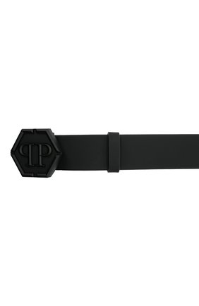 Мужской кожаный ремень PHILIPP PLEIN черного цвета, арт. F20A MVA0600 PLE008N   Фото 3