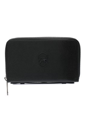 Мужская кожаный футляр для документов PHILIPP PLEIN черного цвета, арт. F20A MVG0344 PLE004N | Фото 1