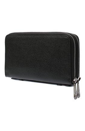 Мужская кожаный футляр для документов PHILIPP PLEIN черного цвета, арт. F20A MVG0344 PLE004N | Фото 2