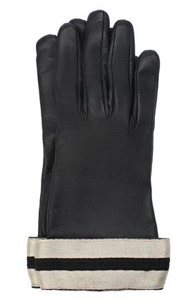 Женские кожаные перчатки GIORGIO ARMANI темно-синего цвета, арт. 794212/0A212 | Фото 1