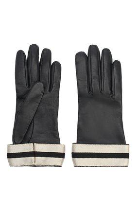 Женские кожаные перчатки GIORGIO ARMANI темно-синего цвета, арт. 794212/0A212 | Фото 2