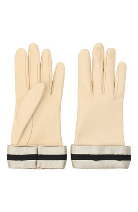 Женские кожаные перчатки GIORGIO ARMANI бежевого цвета, арт. 794212/0A212 | Фото 2