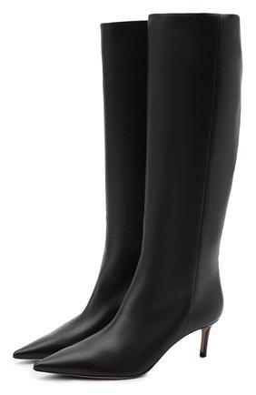 Женские кожаные сапоги GIORGIO ARMANI черного цвета, арт. X10214/XF420 | Фото 1 (Каблук высота: Средний; Материал внутренний: Натуральная кожа; Подошва: Плоская; Материал внешний: Кожа; Высота голенища: Средние; Каблук тип: Шпилька)