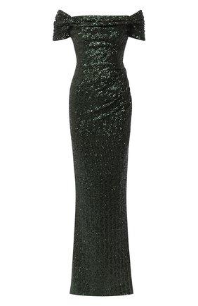 Женское платье с пайетками DOLCE & GABBANA зеленого цвета, арт. F6K1YT/FLM7Q | Фото 1
