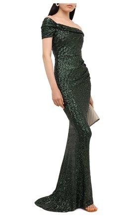 Женское платье с пайетками DOLCE & GABBANA зеленого цвета, арт. F6K1YT/FLM7Q | Фото 2