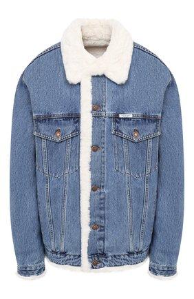 Женская джинсовая куртка с меховой отделкой FORTE DEI MARMI COUTURE синего цвета, арт. 20WF7351-03 | Фото 1