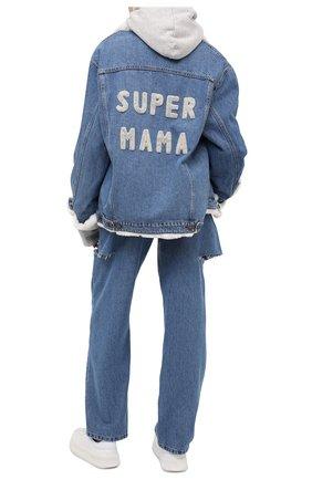Женская джинсовая куртка с меховой отделкой FORTE DEI MARMI COUTURE синего цвета, арт. 20WF7351-03 | Фото 2