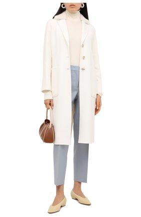 Женское пальто из шерсти и кашемира MANZONI24 белого цвета, арт. 20M745-DB3V/38-46   Фото 2